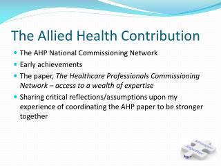 The Allied Health Contribution