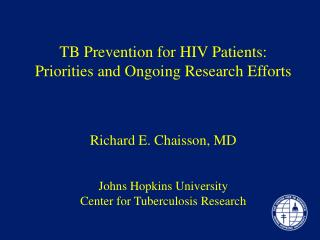 Johns Hopkins Center for Tuberculosis Research