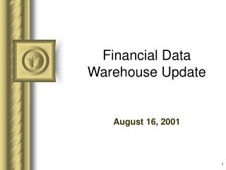 Financial Data Warehouse Update