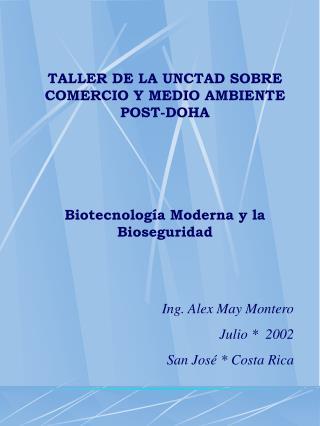 TALLER DE LA UNCTAD SOBRE COMERCIO Y MEDIO AMBIENTE POST-DOHA