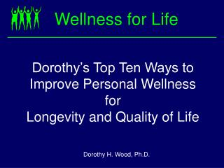Wellness for Life