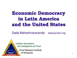 Economic Democracy  in Latin America and the United States