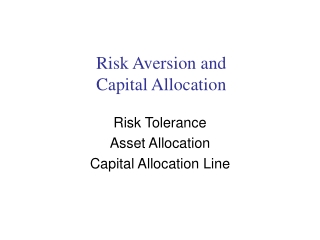 Measuring  Your Risk Tolerance
