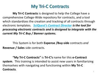 My Tri-C Contracts