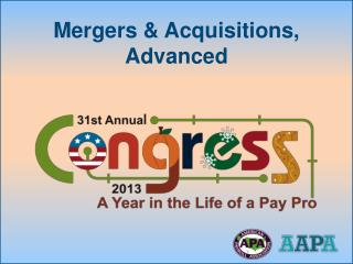 Mergers & Acquisitions, Advanced