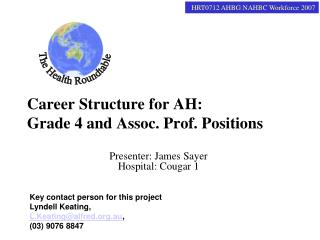 Career Structure for AH: Grade 4 and Assoc. Prof. Positions