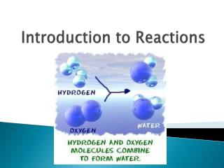 Introduction to Reactions