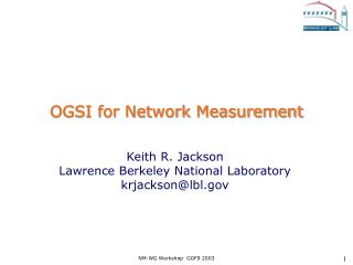 OGSI for Network Measurement