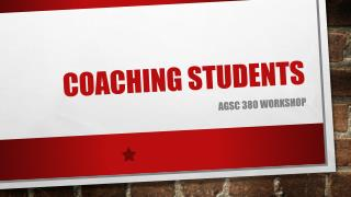 Coaching Students