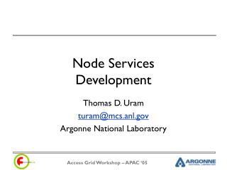 Node Services Development