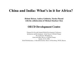 China and India: What's in it for Africa?