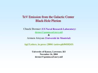 TeV Emission from the Galactic Center  Black-Hole Plerion