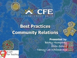 Best Practices  Community Relations
