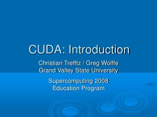 CUDA: Introduction