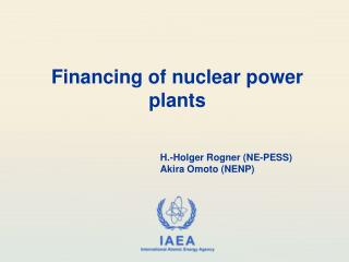 Financing of nuclear power plants