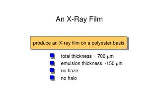 An X-Ray Film