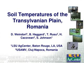 Soil Temperatures of the Transylvanian Plain, Romania