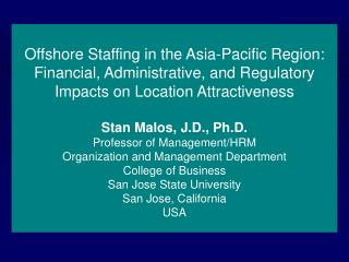 Offshore Staffing in the Asia-Pacific Region: