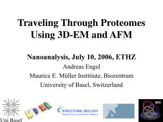 Traveling Through Proteomes Using 3D-EM and AFM