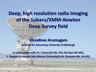 Deep, high resolution radio imaging  of the Subaru/XMM- Newton  Deep Survey field