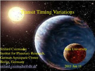 Transit Timing Variations