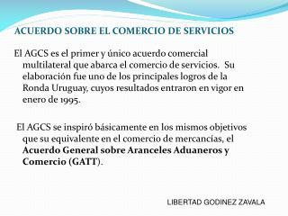 ACUERDO SOBRE EL COMERCIO DE SERVICIOS