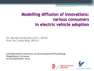 Modelling diffusion of innovations:  various consumers  in electric vehicle adoption