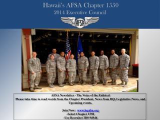 Hawaii's AFSA Chapter 1550 2014 Executive Council