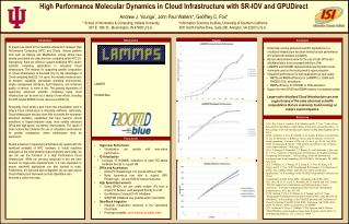 High Performance Molecular Dynamics in  Cloud Infrastructure  with SR-IOV and  GPUDirect
