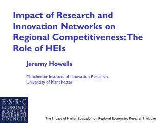 Impact of Research and Innovation Networks on Regional Competitiveness: The Role of HEIs
