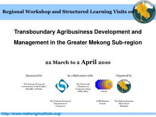 Regional Workshop and Structured Learning Visits on