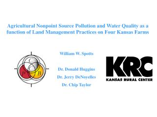 Agricultural Nonpoint Source Pollution and Water Quality as a function of Land Management Practices on Four Kansas Farms