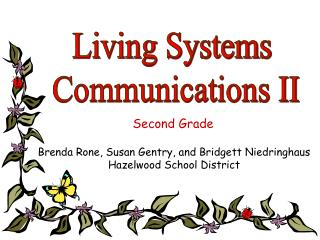 Living Systems  Communications II