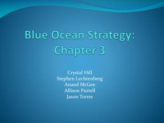 Blue Ocean Strategy: Chapter 3