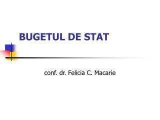 BUGETUL DE STAT