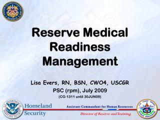 Reserve Medical Readiness  Management