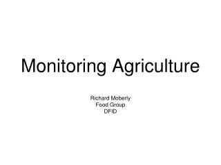 Monitoring Agriculture