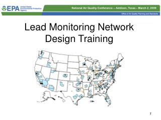 Lead Monitoring Network Design Training