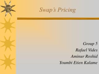 Swap's Pricing