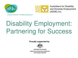Disability Employment: Partnering for Success