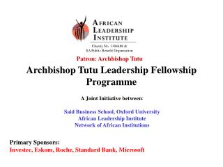 Archbishop Tutu Leadership Fellowship Programme