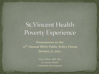 St.Vincent Health  Poverty Experience