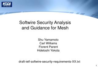 Softwire Security Analysis  and Guidance for Mesh