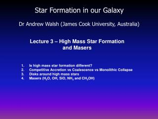 Star Formation in our Galaxy