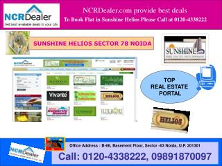 Noida New Housing Project Sunshine Helios in Sector 78 Call