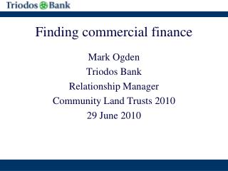 Finding commercial finance
