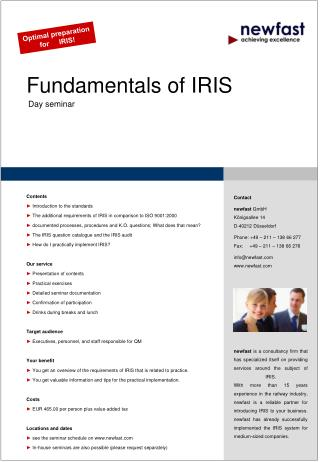 Fundamentals of IRIS