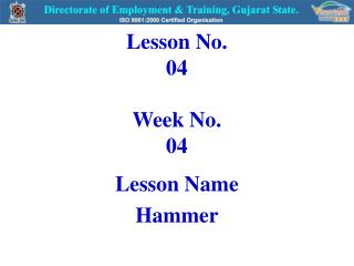 Lesson No. 04 Week No. 04