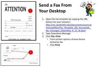 Send a Fax From Your Desktop