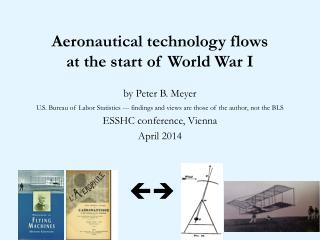 Aeronautical technology flows  at the start of World War I